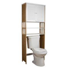 "Danya B Bamboo Bathroom 27"" x 71"" Over the Toilet Cabinet"
