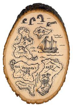 Treasure Map - The Brigand's Maze Island