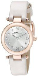 Marc by Marc Jacobs Women's MJ1413 Dotty Rose Gold-Tone Watch with Gray Leather Band