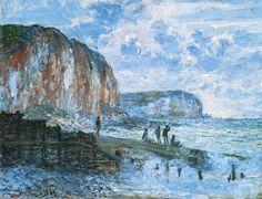 The Cliffs of Les Petites-Dalles.1880 by Claude Monet