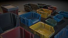 A collection of realistic Plastic Crates aimed to fill in-game environments. Plastic Crates, Game Environment, Storage, Projects, House, Scp, Foundation, Archive, Home Decor