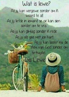 Wat is lewe? As jy kan luister na die stem van God sonder om te twyfel. Words To Live By Quotes, Wise Words, Prayer For Husband, Birthday Wishes For Daughter, Afrikaanse Quotes, Perfection Quotes, Good Morning Wishes, Daily Quotes, Positive Thoughts