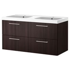 """GODMORGON/ODENSVIK Sink cabinet with 4 drawers - black-brown, 47 1/4x19 1/4x25 1/4 """" - IKEA"""