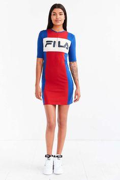 10d9c523d3 FILA + UO Kiki Bodycon Mini Dress