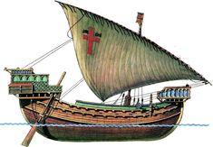Crusader vessel - medieval cog