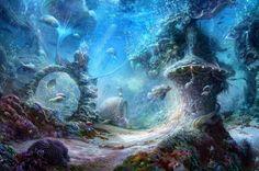 Beautiful underwater - splendor, fish, beautiful, blue, peaceful, underwater, lovely, ocean