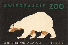 Polar Bear from vintage matchbox label at www.completelycatherine.com