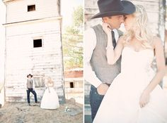 bride and groomCountry Western Wedding: Jamie + Scott 		 | Green Wedding Shoes Wedding Blog | Wedding Trends for Stylish +  Creative Brides