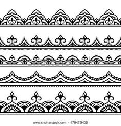 Lace border clipart lace borders clipart pack with digital lace vector henna seamless borders set mehndi style stopboris Gallery