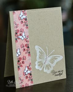 Gina K Designs Stamp Out Cancer Blog Hop you are beautiful card by Beth Silaika