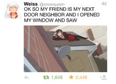 RWBY.  THIS WAS AWESOME.  I PRACTICALLY SCREAMED WHEN I SAW THIS.
