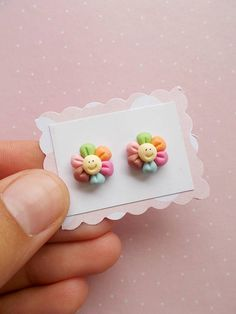 Floral earrings Flower jewelry Cute stud earrings Floral