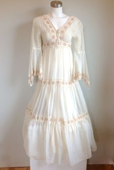 Spectacular This dress is perfect for the boho bride Wedding from Brit Co Pinterest Traditional wedding dresses Traditional weddings and Wedding dress