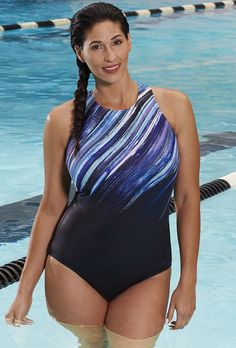 a78178cb4ca76 Chlorine Resistant Iceberg High-Neck Swimsuit High Neck One Piece, Swimsuits  For All,