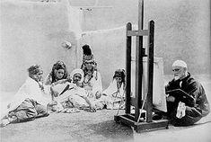 An artist painting girls from the Ouled Nail tribe, Algeria enregistré par adel Hafsi top photo