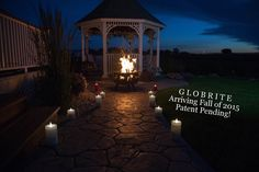 Bonfire, Globrite Candles, and summer nights create a cozy night. DelightedHome.com #globrite #flamelesscandles #ledcandles