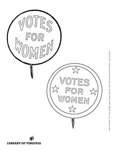 Print & color! The Equal Suffrage League of Virginia, organized in 1909 in Richmond, publicized & lobbied for women's issues, hoping to win the political vote. Coloring selection from the Equal Suffrage League records, as well as additional political ephemera from the Library of Virginia's Visual Studies Collection. Post with #ColorOurCollections and tag @LibraryofVA to share your creations. #history #coloring #suffrage #womenshistory Ephemera, Equality, Virginia, Coloring, Collections, History, Women, Social Equality, Historia
