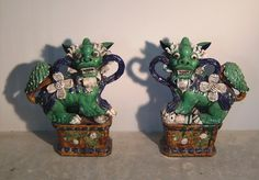"""Chinese, Pair, circa 1950, 29"""" tall x 25"""" wide x 10"""" deep. Not for Sale."""