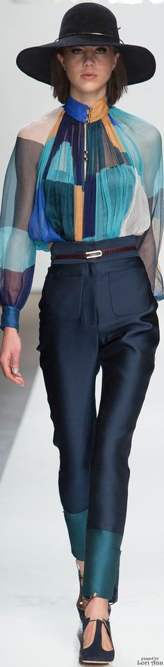 Zimmermann ~ Silk Blouse and Trousers for Fall 2015