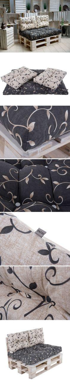 Un set de coussins (assise + dossiers) pas cher pour canapé et salon de jardin en palette