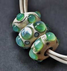 Na zakázku... Náhrdelník s autorskými vinutými perlami.
