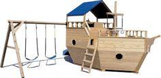 wooden ship swing set