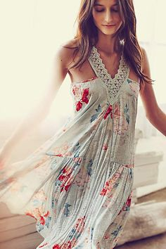 Calandiva Chemise - anthropologie.com#anthrofave Perfectly for at-home-comfortably beautiful