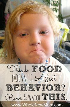 Think what you eat doesn't affect how you feel and act? You need to read and watch this. The information and videos in this post are fascinating as researchers split kids into 2 groups and feed them different types of food. One group got typical party foo Parenting Advice, Kids And Parenting, Parenting Issues, Foster Parenting, Parenting Quotes, Healthy Kids, Healthy Living, Healthy Food, Happy Healthy