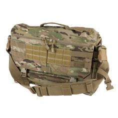 "The MultiCam RUSH Delivery Messenger Bag has an ambidextrous design, is Back-Up Belt compatible, and fits 17"" laptop. Loaded with a web platform and Velcro, the MultiCam RUSH Tactical Messenger Bag is ideal for business tactical needs."