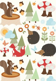 forest animals - Cutsier than we're going in a shared room but adorable none the less.