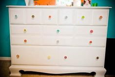 Colorful dresser knobs