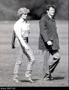 Princess Diana At Guards Polo Club - Her Visit Of The Season. Stock Photo