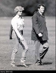 Princess Diana At Guards Polo Club - Her Visit Of The Season. Stock Photo