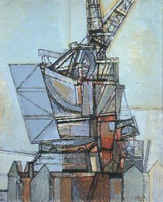 Cranes by Prunella Clough   Leeds Museums and Galleries Oil on canvas, 61 x 51 cm Collection: Leeds Museums and Galleries