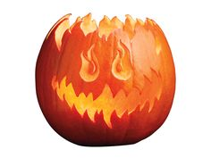 Step-by-step #DIY for carving this fiery jack-o'-lantern from #FNMag.