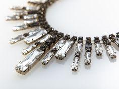Crystal Bib Necklace by Adia Kibur