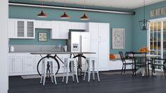 Roomstyler.com - Teal Teal Kitchen, Table, Room, Furniture, Design, Home Decor, Bedroom, Decoration Home, Room Decor