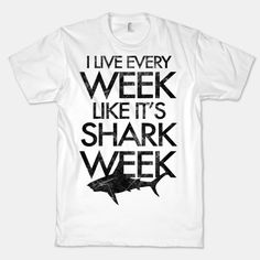 Sharks never go out of style, so show off your love and fascination for these underwater sea beasts with this shirt.