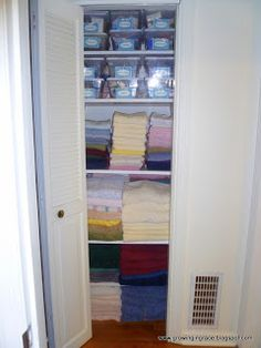 Growing in Grace: Linen Closet Makeover
