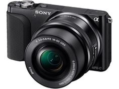 B Sony Alpha NEX-3NL/B 16.1 Megapixels Mirrorless Digital Camera - 16-50 mm Interchangeable Lens - 3x Optical Zoom/4x Digital Zoom - 3.0-inch LCD Display - Black