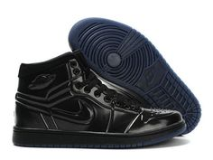 F4T6J084 authentique Nike Air Jordan 1 Retro Chaussures Tous Hommes Noir Chaussures, nike air jordan retro 1 pas cher