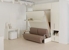 Ito space saving wall bed is designed in Italy by Clei
