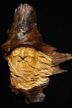 Wood Spirit carving.