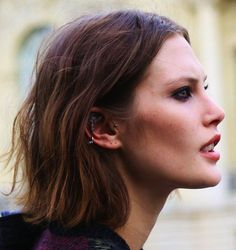 Catherine McNeil new shorter hair