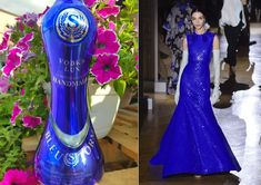 BLEU STORM Vodka bottle decorated by DANCO DECOR and ... blue dress by Valentino, Haute Couture Collection spring-summer 2020. When we are going to do something, we do it with style! Couture Collection, Vodka Bottle, Blue Dresses, Something To Do, Valentino, Haute Couture