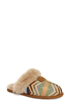 UGG meets Pendleton in a cozy slipper livened up with a Southwest-inspired.