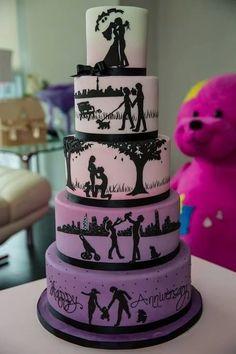 Торт как история счастливой жизни     #wedding #bride #flowers
