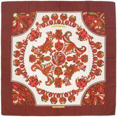 """RARE Auth Hermes Paris """"COCCINELLES"""" Vintage Silk Scarf Carre K. SWILDENS 90cm"""