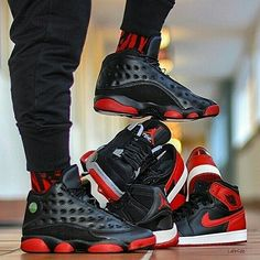 """uk availability 81008 c6443 What s your favorite """"Bred"""" Air Jordan sneaker  gives us a few classics to"""