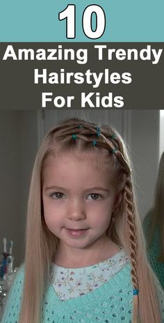 Trendy Hairstyles For Kids Follow us @ http://pinterest.com/stylecraze/ for more updates.
